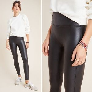 Spanx Black Faux Leather Leggings Small *like new*